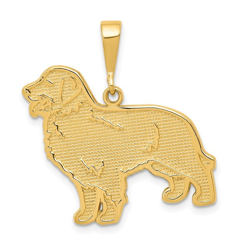 Quality Gold 14k Golden Retriever Pendant