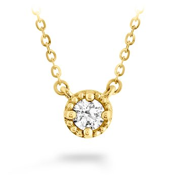 0.55 ctw. Liliana Milgrain Single Diamond Pendant
