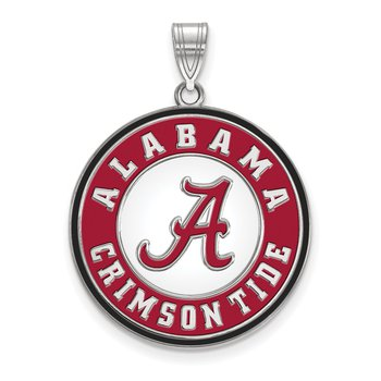 Sterling Silver University of Alabama NCAA Necklace