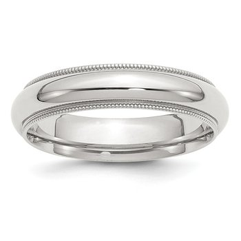 Sterling Silver 5mm Milgrain Comfort Fit Band