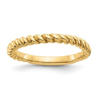 14k Polished Twisted Band
