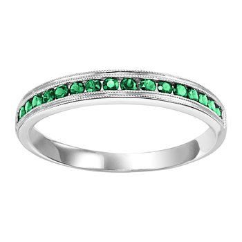 10K Emerald Mixable Ring