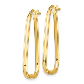 14k 2mm Polished Small Triangle Hoop Earrings