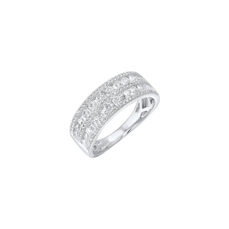 Gems One Diamond 5-Row Wedding Anniversary Band in 14k White Gold (1ctw)
