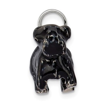 Sterling Silver Enameled Large Scottish Terrier Charm