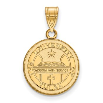 Gold-Plated Sterling Silver University of Tulsa NCAA Pendant
