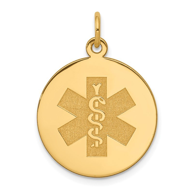 Quality Gold 14k Non-enameled Medical Jewelry Pendant