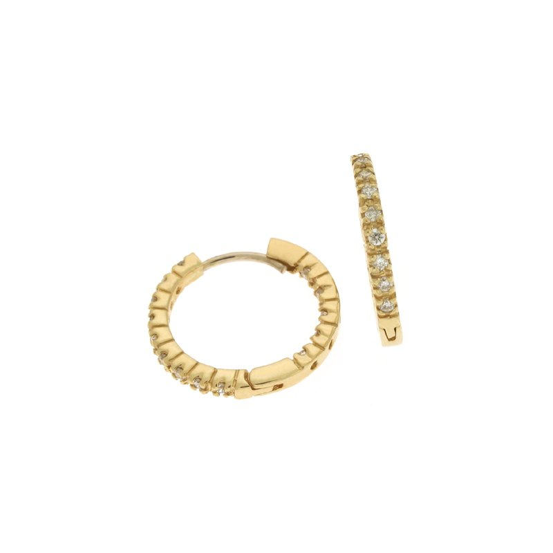 S. Kashi  & Sons Diamond Hoop Earring