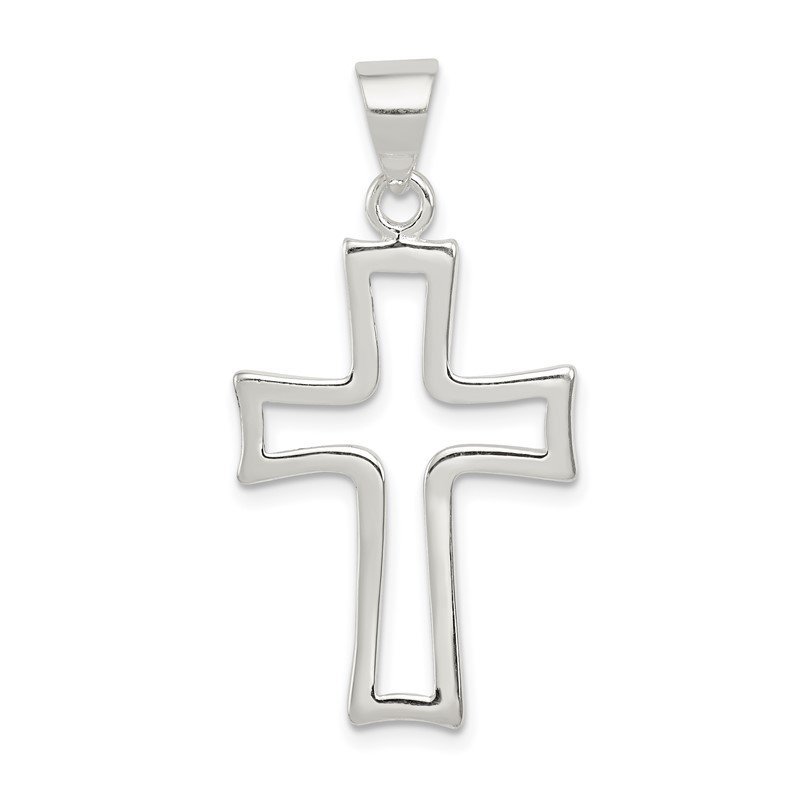 Quality Gold Sterling Silver Cross Charm