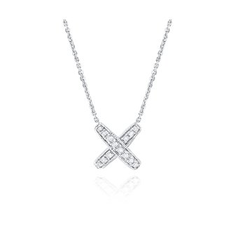 14K Diamond Kiss Pendant