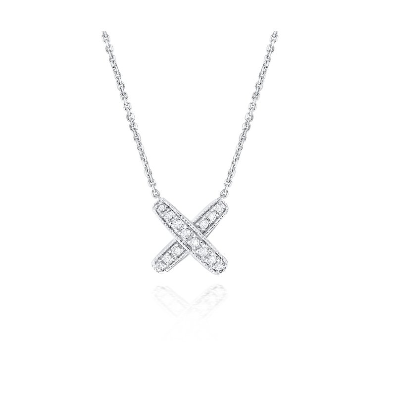 KC Designs 14K Diamond Kiss Pendant