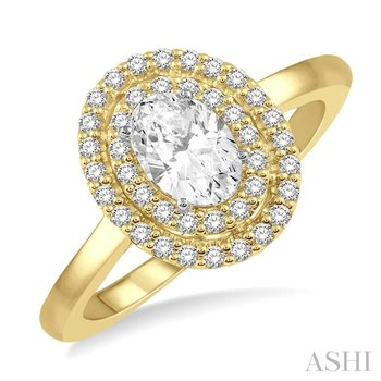 oval shape diamond engagement ring