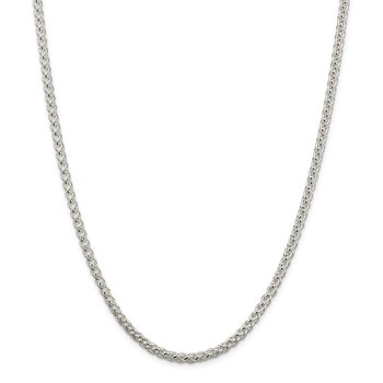 Sterling Silver 4mm Round Spiga Chain