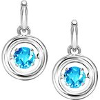 Rhythm of Love Silver Blue Topaz Rhythm Of Love Earrings