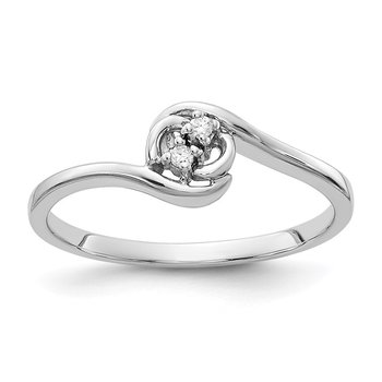 14k White Gold AA Diamond ring