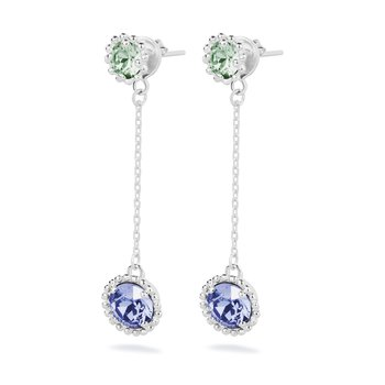 925‰ sterling silver, erinit and tanzanite Swarovski® Elements crystals.