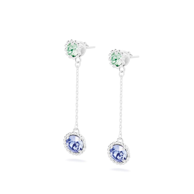 Brosway 925‰ sterling silver, erinit and tanzanite Swarovski® Elements crystals.