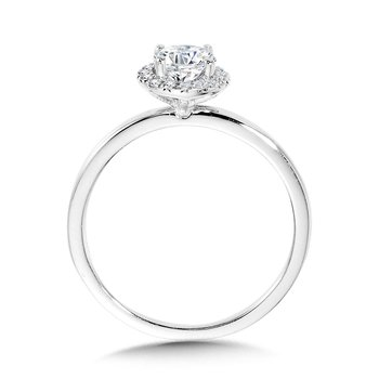 Classic Straight Halo Engagement Ring