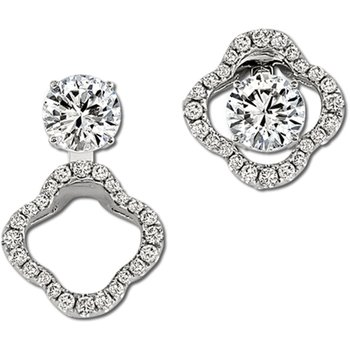 14kt White Gold Convertible Diamond Earring Jackets