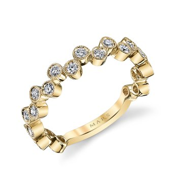 MARS 26202YG Stackable Ring, 0.50 Ctw.