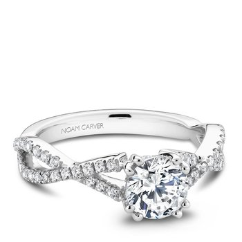 Noam Carver Modern Engagement Ring B004-03A