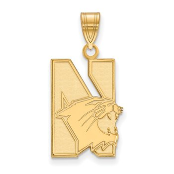Gold-Plated Sterling Silver Northwestern University NCAA Pendant