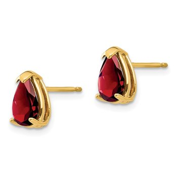 14k 8x5mm Pear Garnet Earrings
