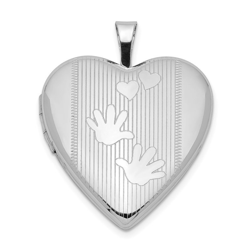 Quality Gold Sterling Silver Rhodium-plated 20mm Hands Heart Locket