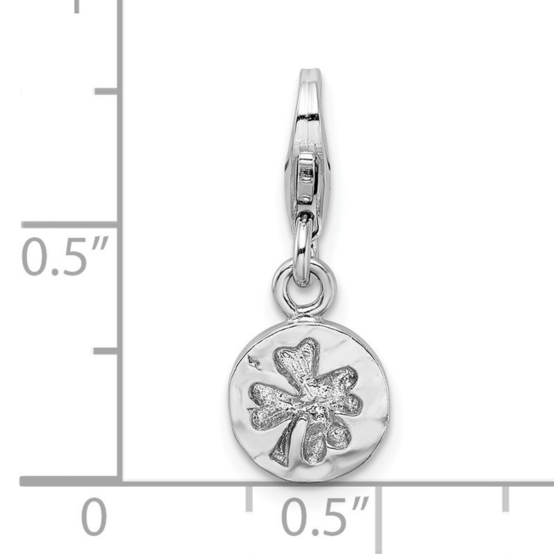 Lester Martin Online Collection SS RH Hammered Four Leaf Clover Lobster Clasp Charm