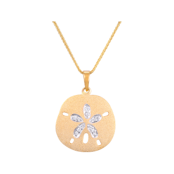 Yellow Gold Sanddollar Pendant