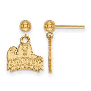 Gold Baylor University NCAA Earrings