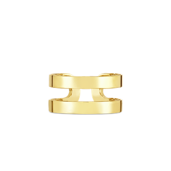 18Kt Gold Double Symphony Barocco Ring