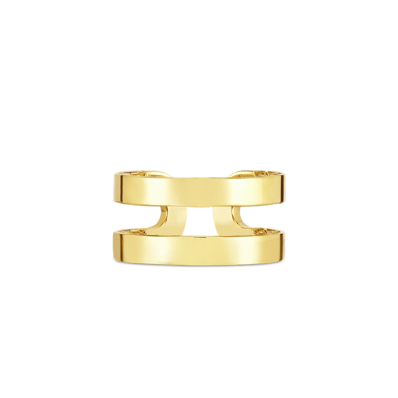 Roberto Coin 18Kt Gold Double Symphony Barocco Ring