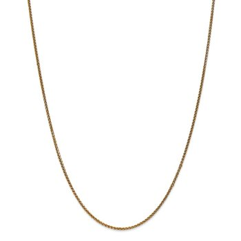 14k 1.4mm D/C Spiga Chain