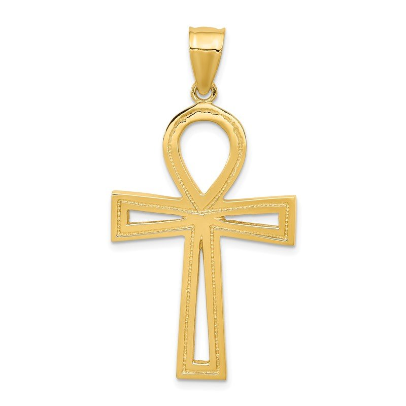 Quality Gold 14k Ankh Cross Pendant