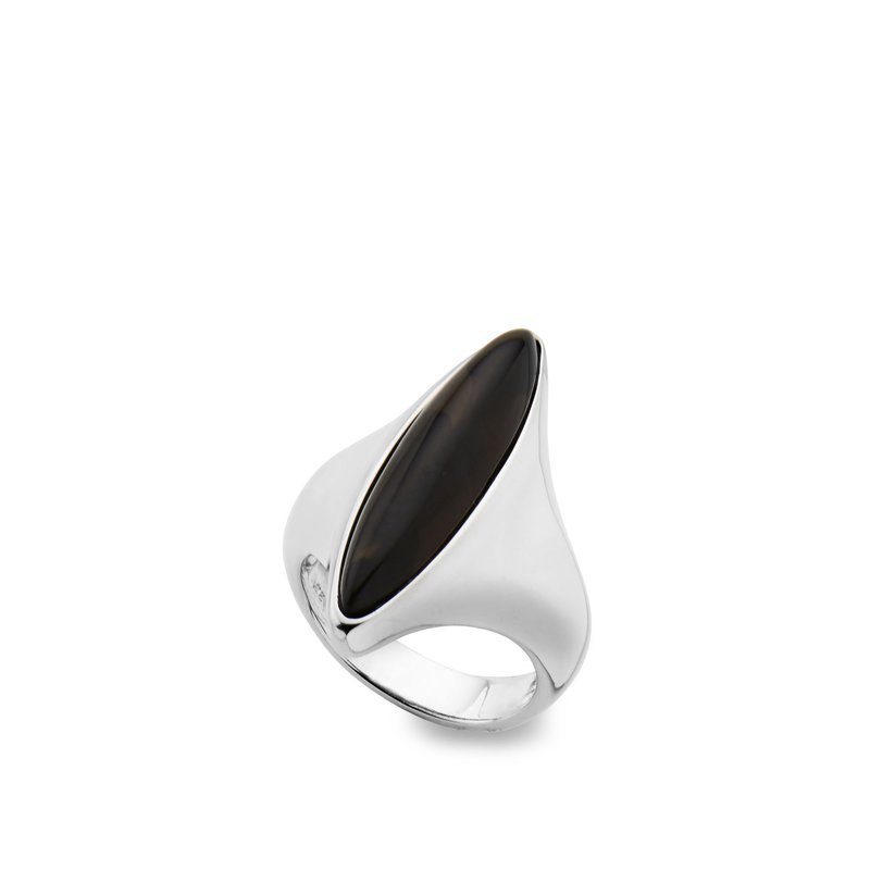 Nambé Jewelry Marquise Ring/Smokey Quartz  - S9