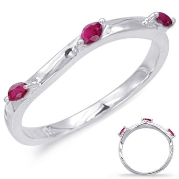 White Gold Ruby Matching Band