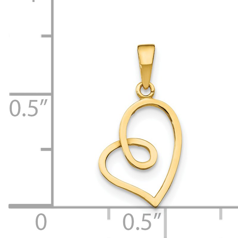 Quality Gold 14k Children's Heart Pendant