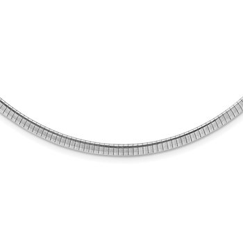 Sterling Silver Rhodium Plated 4mm w/2 in Ext Cubetto Chain