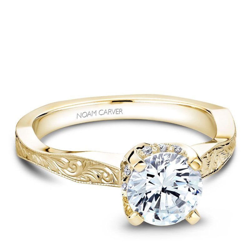 Noam Carver Regal Engagement Ring B020-04YEA