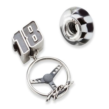 Sterling Silver 18 Kyle Busch NASCAR Bead