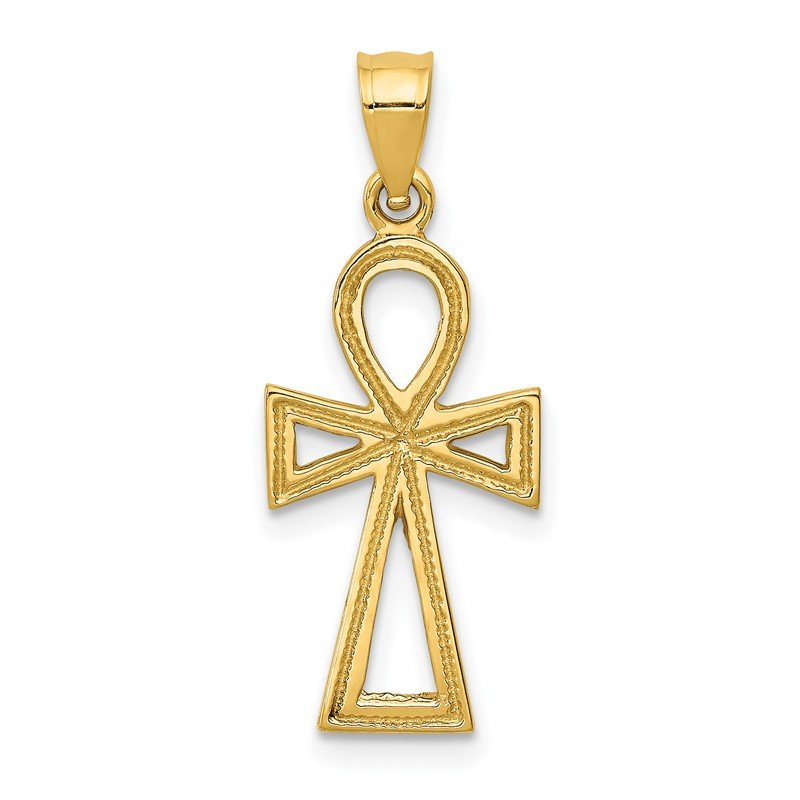 Quality Gold 14k Ankh Cross Charm