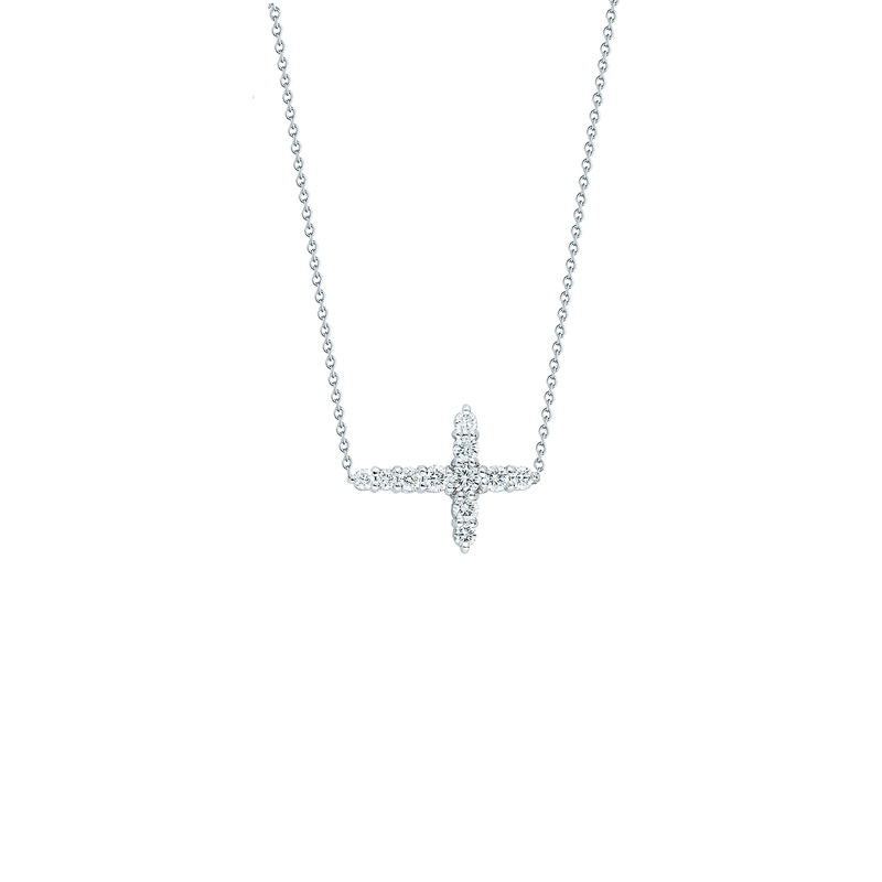 Roberto Coin 18KT GOLD DIAMOND INTEGRATED CROSS NECKALCE