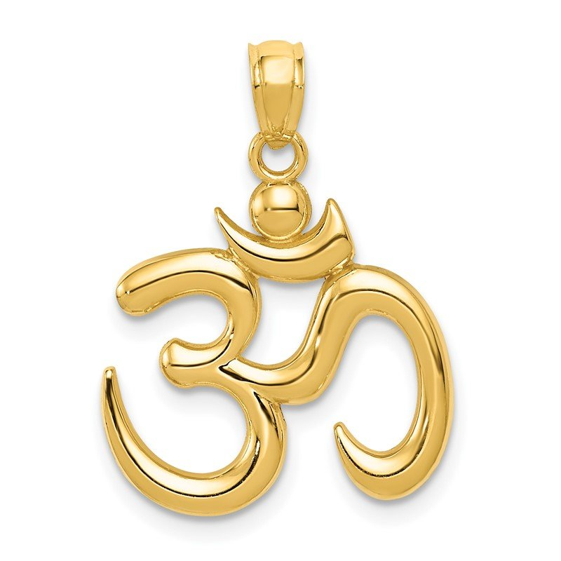 Quality Gold 14k Polished Om Symbol Pendant