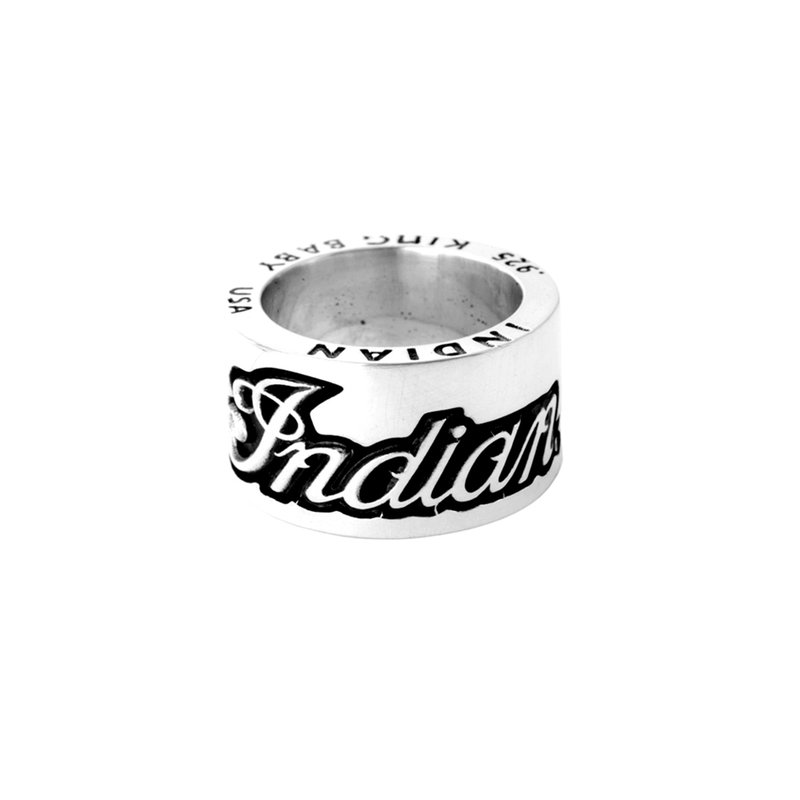 King Baby Indian Script Logo Ring