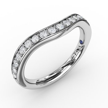 1/3ct Bead and Channel Set Contour Diamond Band