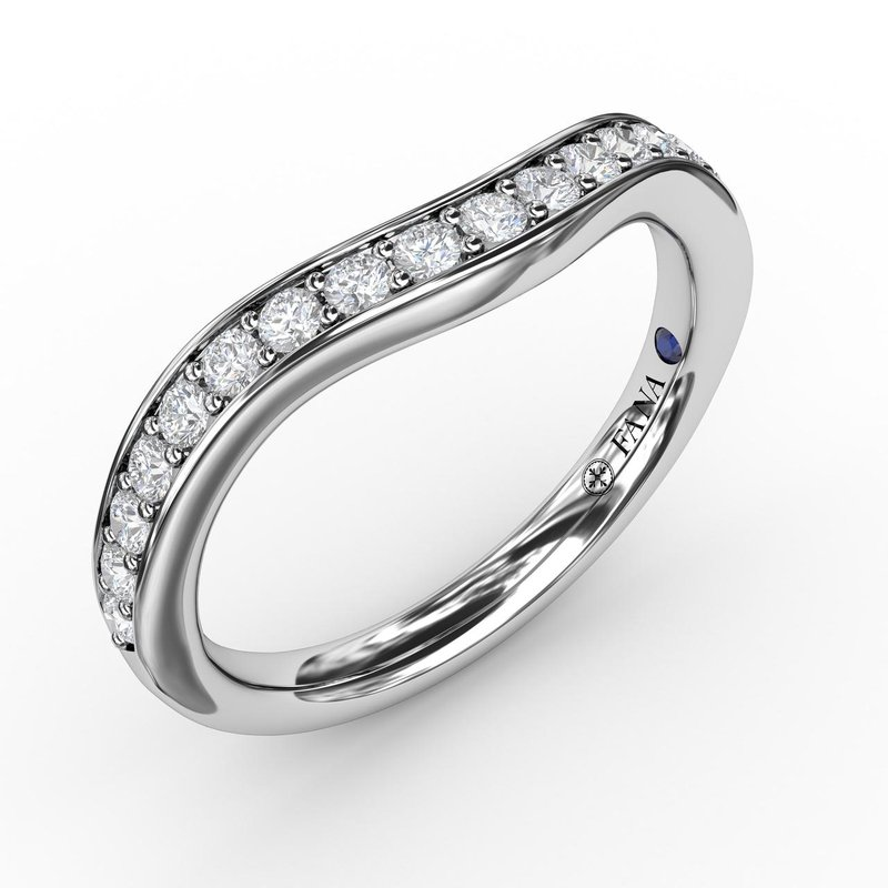 Fana 1/3ct Bead and Channel Set Contour Diamond Band