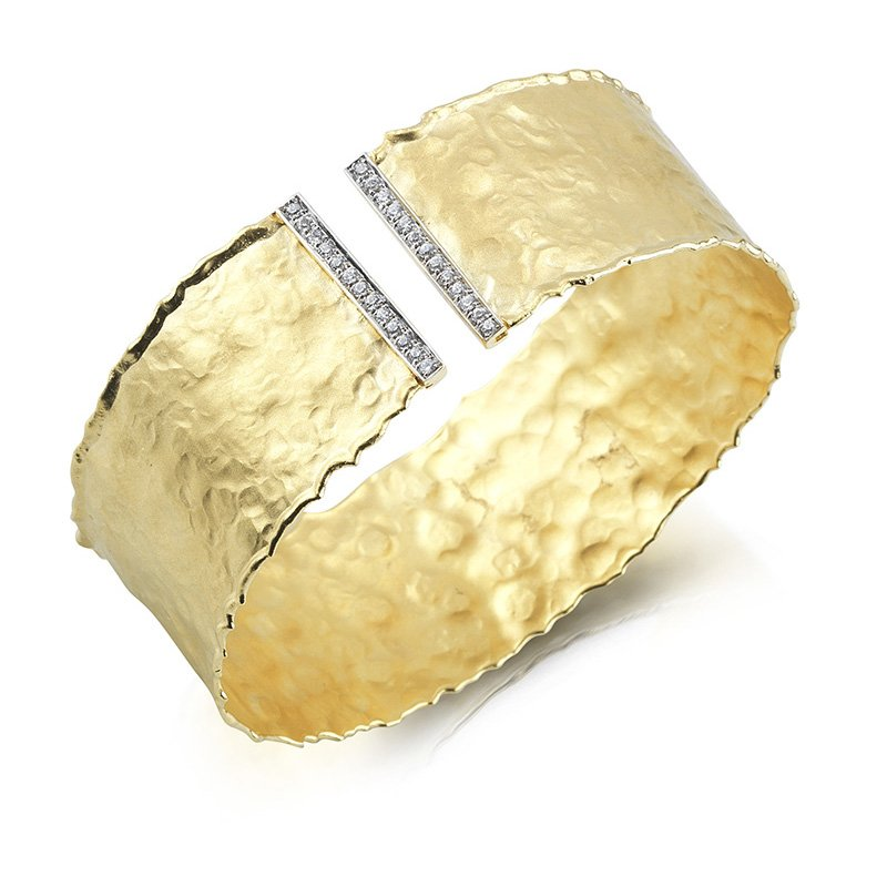 I. Reiss 14K-Y GALLERY CUFF 0.35CT