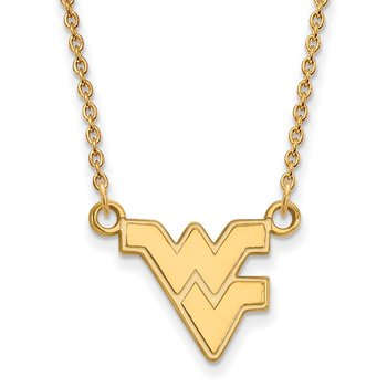 Gold West Virginia University NCAA Necklace