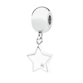 316L stainless steel white enamel and Swarovski® Elements white crystal.